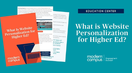 """title card reads """"what is website personalization for higher ed"""""""