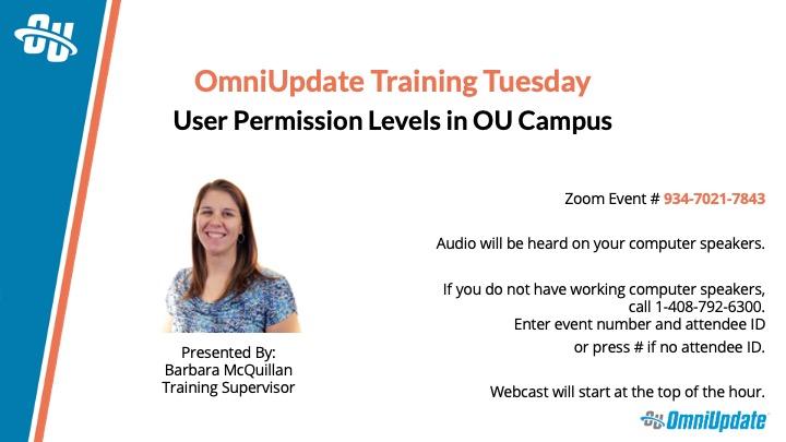 User Permission Levels in OU Campus