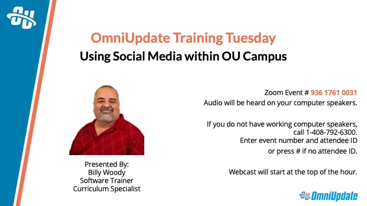 Using Social Media within OU Campus